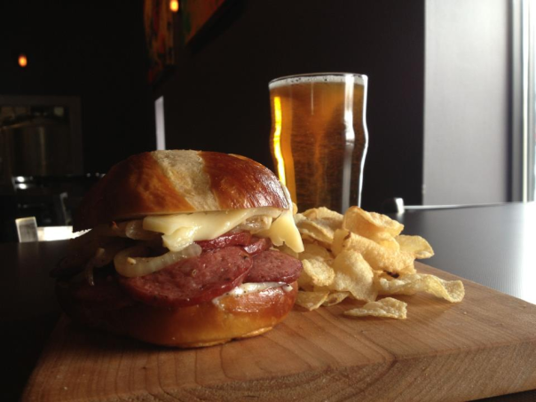 Even if you don't like beer, you should visit for this sandwich!