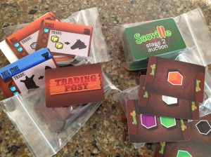 Prototype Cards for Trading Post and Scoville
