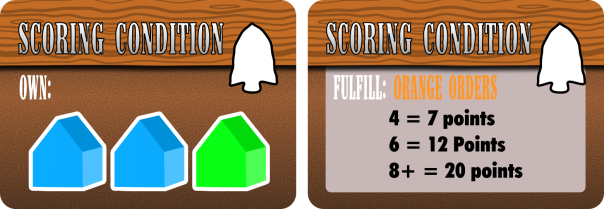 "Left: a ""Buildings"" scoring condition. Right: an ""Orders"" scoring condition."