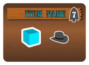 "Example of a ""Blue"" order. This requires a Water and a Hat (Fedora?). The player earns 7 points."