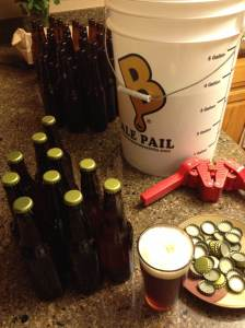 Bottling Ben Franklin's Honey while enjoying Alberti Amber!