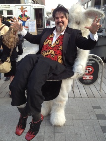 The costumes are a great part of GenCon and this guy took the cake. He was a rabbit pulling a magician out of a hat!