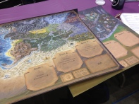 I got a look at the boards for the Storm Hollow game. They looked really nice.