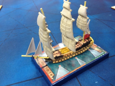 A beautiful ship from Sails of Glory. This game looked amazing and is said to work very well as a battle game.
