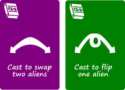 You've got to get the Aliens in the right order before they can be eliminated. These cards would help.