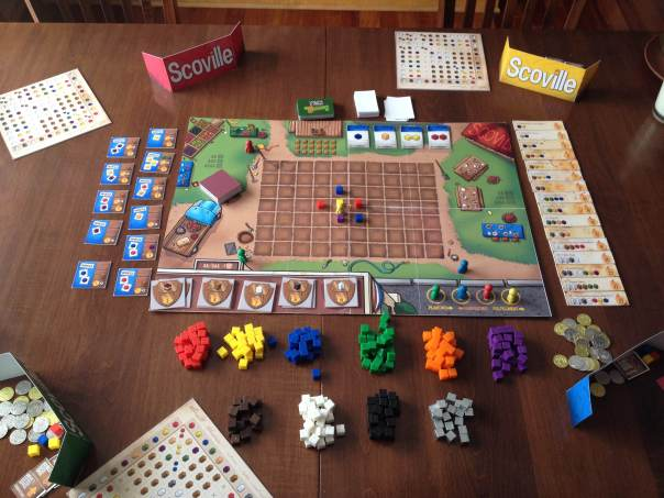 Scoville set up for 4 players during a Gaming Weekend of Awesomeness!