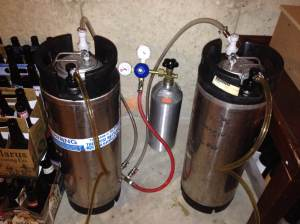 10 gallons of beer that I didn't have to bottle!