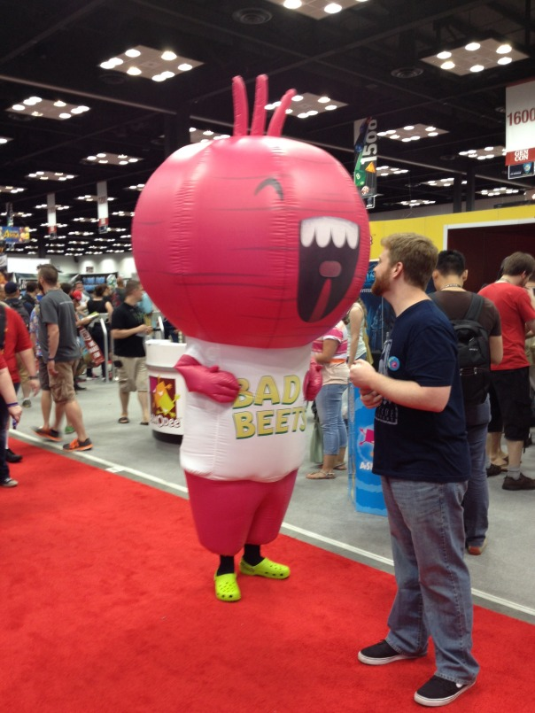 This Bad Beets guy was constantly roaming the exhibit hall. Pretty sweet.