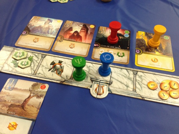Elysium was one of our groups favorite games of the con.  Really interesting gameplay here.