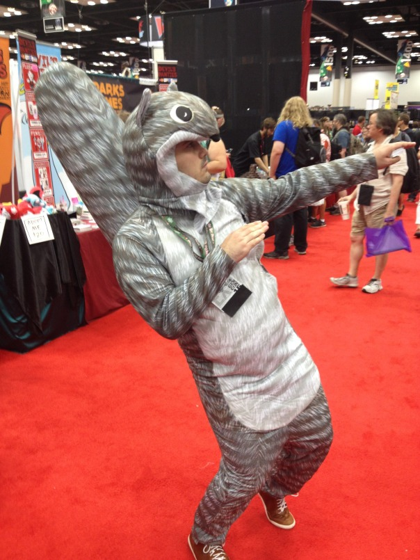 This squirrel costume was awesome! I love squirrels for some odd reason.