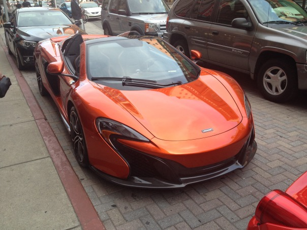 But I'd never seen a McLaren before! That thing is so awesome!