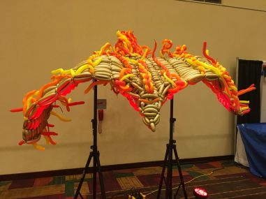 Every year at Gen Con a balloon artist builds something awesome, like this year's Phoenix.