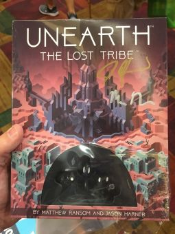 Picked up a copy of the Unearth expansion for some coworkers and was able to get it signed by the designers!