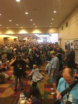 Just a few of the people ready to barge into the Exhibit hall Thursday morning!